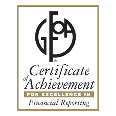 Government Finance Officers Association (GFOA) Certificate of Achievement for Excellence in Financial Reporting