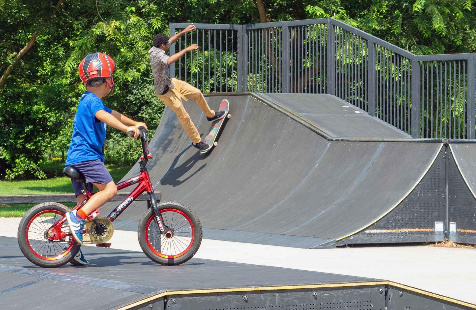Bolingbrook Park District Indian Boundary Skate Plaza