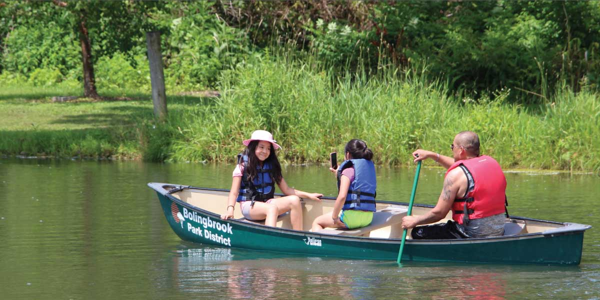 Canoeing at Hidden Lakes
